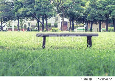 背景素材 ベンチのある風景 15205872