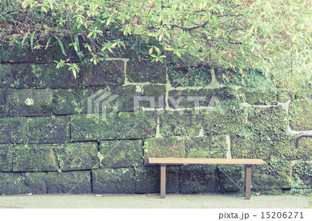 背景素材 ベンチのある風景 15206271