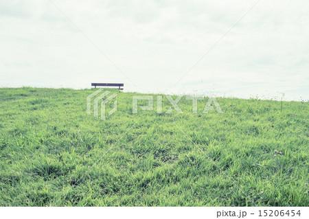 背景素材 ベンチのある風景 15206454