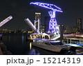 アーバンドック ららぽーと豊洲 夜景 停泊する水上バスとドック 15214319
