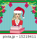 pretty girl in Christmas costume 15219411