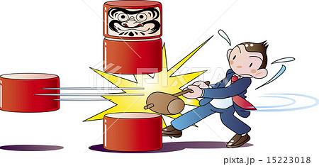 駒, 飛ばす, 権威, 抜く, 中間, 小槌, ベクター, だるまおとし, 左遷, 打つ, 玩具, ビジネス, 赤, キャラクター, 日本, 白バック, 伝統, だるま, 衝撃, 落ちる