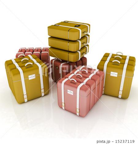 travel bags on whiteのイラスト素材 [15237119] - PIXTA