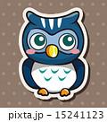梟 鳥 絵のイラスト 15241123