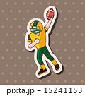 フットボール ラグビー タッチダウンのイラスト 15241153