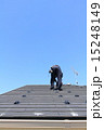 後ろ姿 施工中 空の写真 15248149