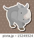 動物 サイ さいのイラスト 15249324