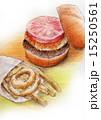 フードイラスト~ハンバーガー・フライドポテト 15250561