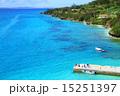桟橋 沖縄 海の写真 15251397