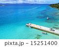 桟橋 沖縄 海の写真 15251400