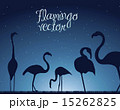flamingo over night background animal vector illustration 15262825