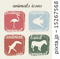 silhouette animals over beige background vector illustration 15267568