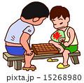 将棋をする少年たち 15268980
