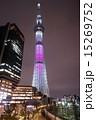 東京スカイツリー 桜色ライトアップ 舞 15269752
