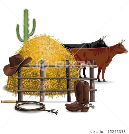 Vector Cowboy Farming Conceptのイラスト素材 [15275333] - PIXTA