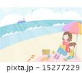 ベクター 浜辺 人物のイラスト 15277229