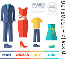 Flat collection style fashion clothing for family 15288126