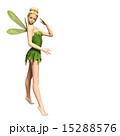 ポーズする 妖精 フェアリー 3DCGイラスト素材 15288576