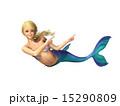 マーメイド 人魚 指差しのイラスト 15290809