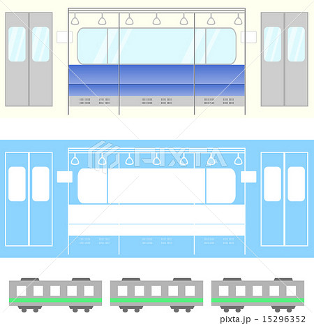 電車 車内のイラスト素材 15296352 Pixta