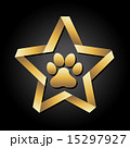 dog footprint over black background vector illustration 15297927