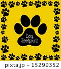 dog footprint over yellow background vector illustration 15299352