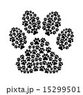 dog footprint over white background vector illustration 15299501