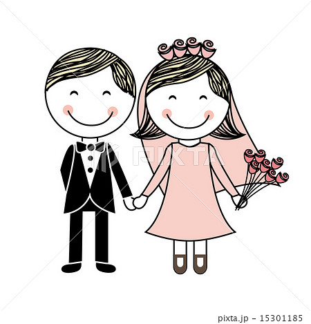 wedding design over white background vector illustrationのイラスト