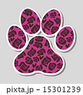 dog footprint over gray background vector illustration 15301239
