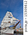 日本丸 満船飾 総帆展帆の写真 15309812