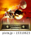 背景 レトロ ラジオのイラスト 15310623