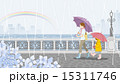 雨の日 親子 風景 15311746