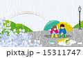 雨の日 子供 風景 15311747