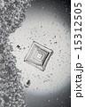 顕微鏡写真 結晶 塩の写真 15312505