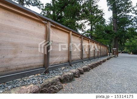 伊勢神宮 外宮 正宮の板垣 15314175