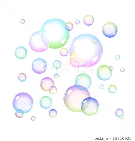Color Soap bubblesのイラスト素材 [15316926] - PIXTA
