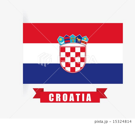 Croatia design over white background vector illustrationのイラスト素材 [15324814] - PIXTA