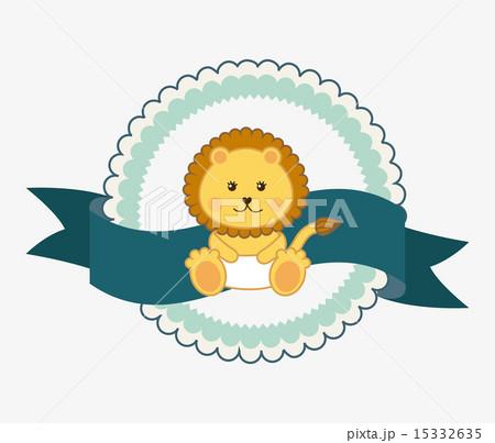 Baby shower design over white background vector illustrationのイラスト素材 [15332635] - PIXTA