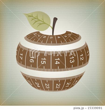 fruits design over vintage background vector illustrationのイラスト素材 [15339091] - PIXTA