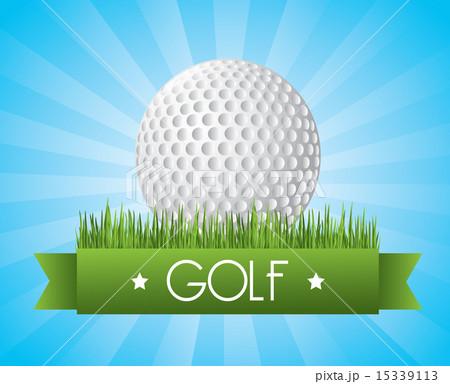 golf design over blue background vector illustrationのイラスト素材 [15339113] - PIXTA