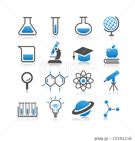 Science icon set 15391216