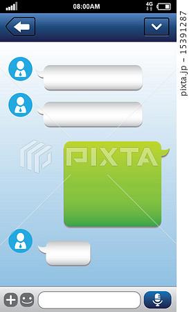 Smart phone chat bubbles 15391287