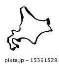 北海道のシルエット 15391529