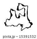 青森県のシルエット 15391532