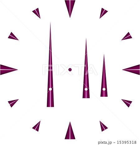 シンプル時計盤のイラスト素材 15395318 Pixta