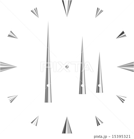 シンプル時計盤のイラスト素材 15395321 Pixta