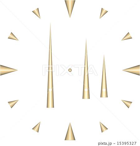 シンプル時計盤のイラスト素材 15395327 Pixta