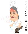 熱中症 お爺さん ベクターのイラスト 15399404