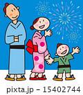 浴衣 ベクター お祭りのイラスト 15402744