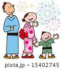 浴衣 ベクター お祭りのイラスト 15402745